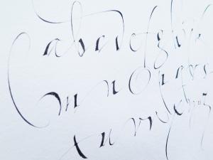 Kurs i kalligrafi med Christopher Haanes.