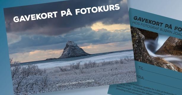 Gi et gavekort på fotokurs. ©Fotograf Bjørn Joachimsen.